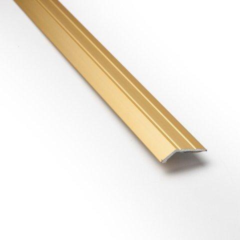 eXtreme® Ramp Edge Carpet Door Plate Brass Threshold 3ft length