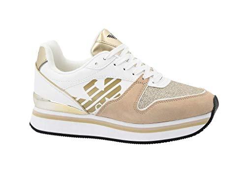 d7e58fbf32 Emporio Armani Sneaker Platform Sand+White N 37 usato Spedito ovunque in  Italia