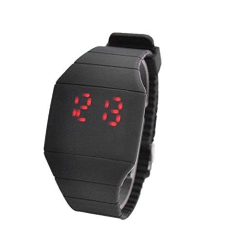 Accmart (TM) Fashion Unisex Touchscreen LED Silikon Armbanduhr superdünn Sports Farbe (schwarz)