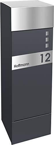 frabox Design Paketkasten Namur EXKLUSIV Edition Edelstahl/Anthrazitgrau