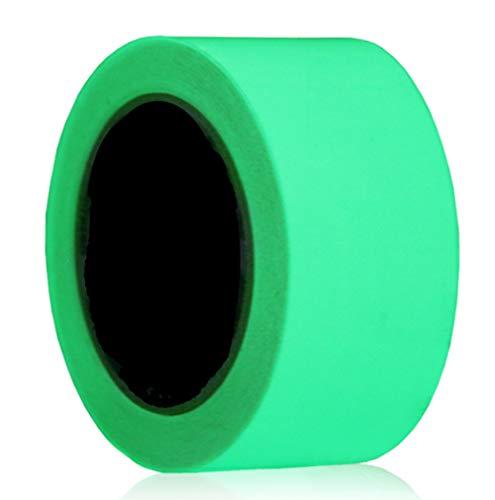 Fluoreszierendes Klebeband, Leuchtendes Klebeband,Nachtleuchtend Selbstklebendem Wasserdicht Hochwertige, Warnband Markierungsband Klebebandabroller (50mm x 5m)