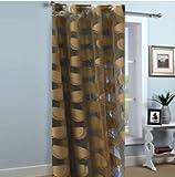 #4: Sc's Fabulous Home Tissue Net Door Curtains Set of 2 (2) -Brown - 7ft