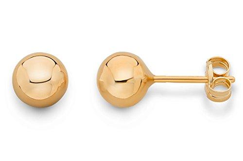 Miore Ohrringe Damen Rosé 9 Karat/375 Gold Ohrstecker Kugel (375 Kugel)