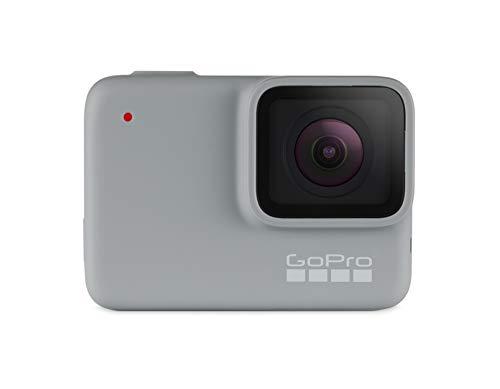 GoPro HERO7 White. Tipo HD: Full HD, Máxima resolución de video: 1920 x 1440 Pixeles, Velocidad máxima de cuadro: 60 pps. Total de megapixeles: 10 MP. Pantalla: LCD. Unidad de almacenamiento: Tarjeta de memoria, Tarjetas de memoria compatibles: Micro...