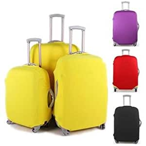 Colorful Luggage Travel Protector Suitcase Cover Trolley Suitcase Bags Black Dustproof (28, red)
