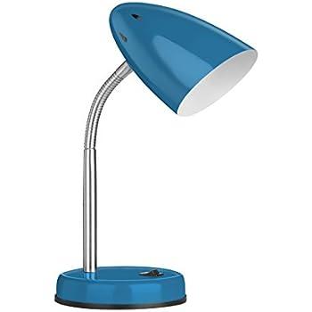 Premier Housewares Luma Flexi Desk Lamp - Blue: Amazon.co.uk: Lighting