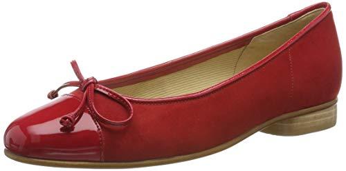 Gabor Shoes Damen Basic Geschlossene Ballerinas, Rot (Cherry/Kirsche 75), 42 EU -