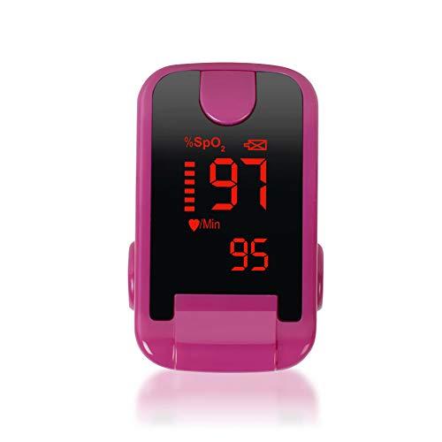 Flowing water Fingerpulsoximeter OLED Fingerspitzenoximetrie Sauerstoffsättigung messen Messen Sie die Herzfrequenz,Pink