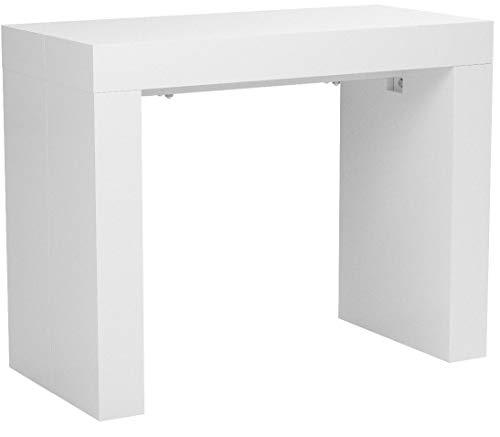 Bagno Italia Tavolo Arte povera 140x80 allungabile Gamba tornita Colore Bianco Opaco su ordinazione con sedie o Misura 160x85 I