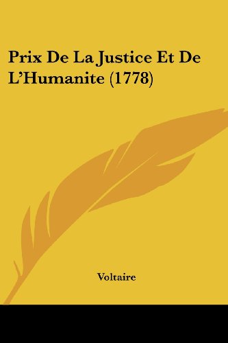 Prix De La Justice Et De L'Humanite (1778)