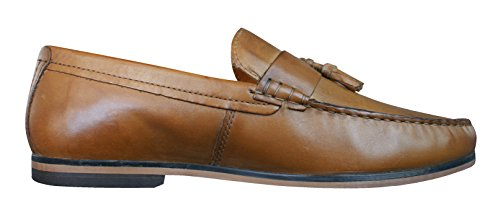 Cinta Roja Zapatos Woodcroft Hombres Cuero De Color Abarcas Canela HHxrdwSq