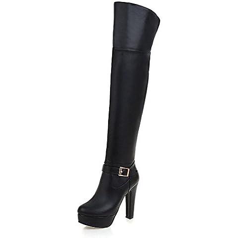 sopra il ginocchio stivali moda/Super high heel piattaforma stivali/ grezzo Joker-ispirato stivali con tempo libero/ moda donna stivali