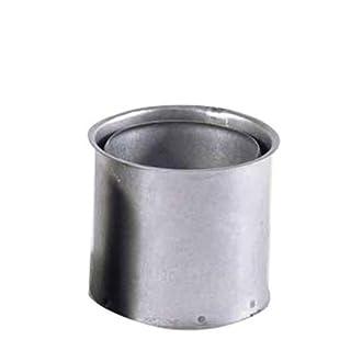 Kamino Flam 331589 Wandfutter doppelt in Silber, für Ofenrohre mit der Stärke 0,6 mm, Doppelwandfutter aus feueraluminiertem Stahl, geprüft nach Norm EN 1856-2, Durchmesser: ca. 150 mm