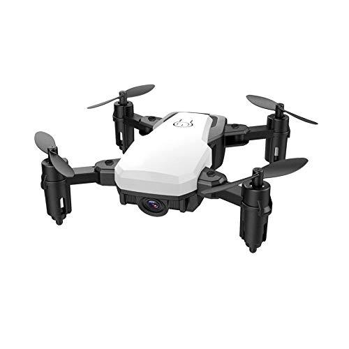 PETUNIA Quadricottero con Fotocamera Pieghevole Selfie Drone Altitude Holder Senza Controllo del Movimento della Testa - Bianco (Tipo Standard)
