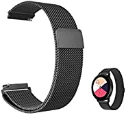 GEEAN Stainless Steel Watch Band Metal Strap for Samsung Galaxy Watch Active 2 44mm 40mm / Watch 3 41mm / Gear