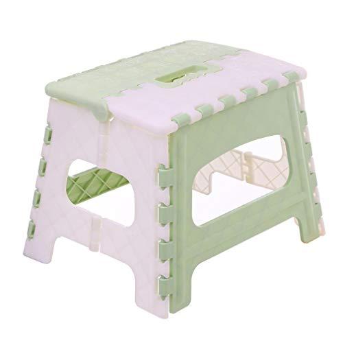 uleileidega Klapptrittschemel Leichte Trittschemel Mini-Cartoon-Tresor Hocker für Küche, Bad, Schlafzimmer, Kinder oder Erwachsene Grün -