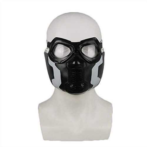 GanSouy Captain America: Bürgerkriegsmaske, Wintersoldatenmaske, PVC - Perfekt für Karneval und Halloween - Kostüm für Erwachsene - Latex, Unisex,Winter Soldier-55cm~61cm