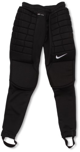 Nike Jungen Hose Padded Goalie Torwart, Black/White, M, 481444-010
