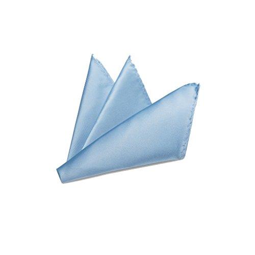 Rusty Bob - Einstecktuch einfarbig - Tuch aus Polyester - Kavalierstuch Pochette Stecktuch - Taschentuch - Hellblau