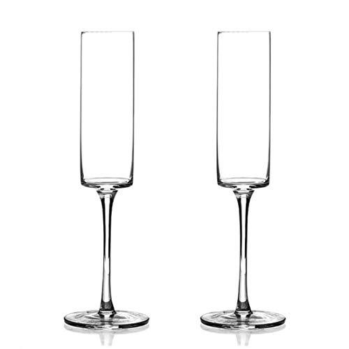 FELICIKK Verres à vin 6Oz, Verres à vin Champagne Ensemble de 2 Parfaits pour Les Cadeaux de vin Blanc ou Rouge vin Vins Ensembles de Verre pour Les Amateurs de vin