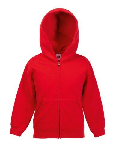 Erwachsenen-kapuzenjacke (Fruit Of The Loom Kapuzenjacke für Kinder 5-6 Jahre,Rot)