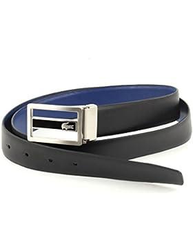 LACOSTE Curved Welded Edges Belt W85 Black/Blue