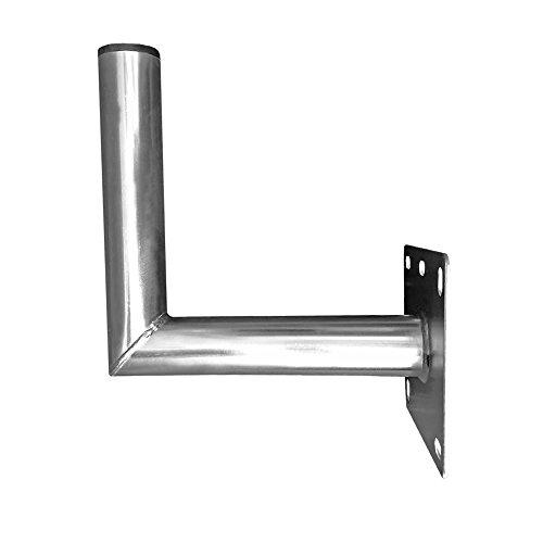 Sat Wandhalter 25cm Stahl verzinkt Ø 48 mm Antenne Schüssel Wand Halter Wandhalterung Montage-Zubehör robust stabil Zubehör ARLI 25 cm
