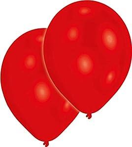 amscan 9904947 - Globos de látex (50 Unidades), Color Rojo