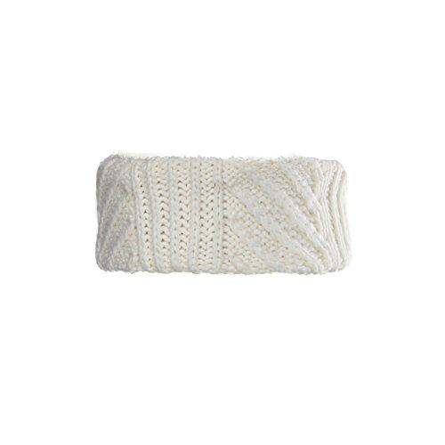 Sherpa Winter Liner (Chaos Tuptin Fancy Stitch Stirnband mit Sherpa-Futter, Damen, Winter-Weiß, Einheitsgröße)