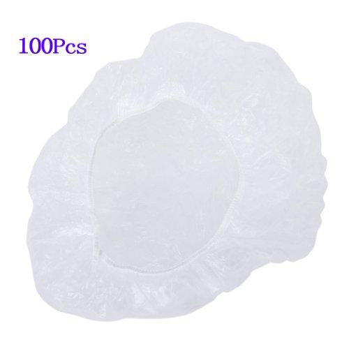 SODIAL(R) 100pcs bonnets de douche de cheveux jetables et clairs pour salon spa