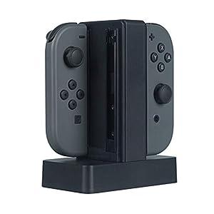 Jamicy  Ladestation für Ladestation mit LED Anzeige Für Nintendo Switch Joy-Con, 4 in 1 Joy Con Ladestation