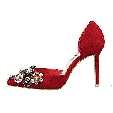 Moda Donna Sandali Sexy donna tacchi tacchi Estate Felpa casual Stiletto Heel altri nero / rosa / rosso / grigio chiaro / fucsia / Khaki Altri Red