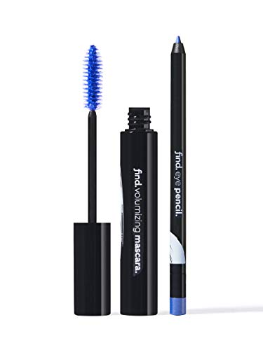 FIND - Flash Blue (Mascara volumizzante blu + Matita occhi blu con temperino)