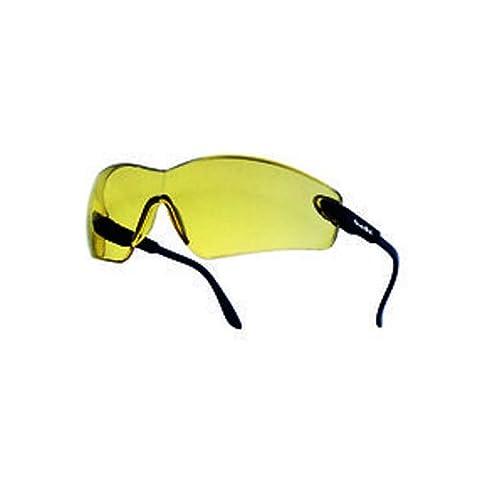 Bollé vippsj Viper Brille, verstellbar Tempel gelb PC, kratzfest und Anti-Fog Objektiv, inkl. Band, Gestell Nylon schwarz