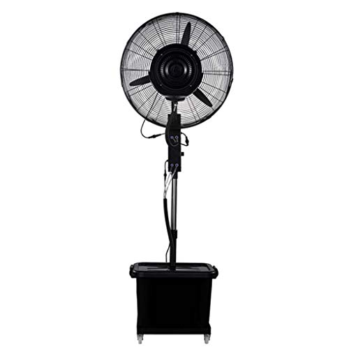 Mist Horn Fan Sockel Industrie Fan Powerful Boden Lüfter Atomisierung Stille Oszillierende 3 Speed Einstellbare Fan Kopf transportabel- 42 L Wassertanks - 3-speed Lüfter Sockel