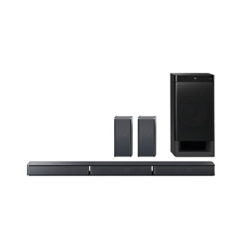 Sony HT-RT3 5.1-Kanal Soundbar (600 W Ausgangsleistung, NFC, Bluetooth, Dolby Digital, HDMI, USB, optischer Digitaleingang incl. Subwoofer und Rear Lautsprecher) schwarz - Lautsprecher Tv