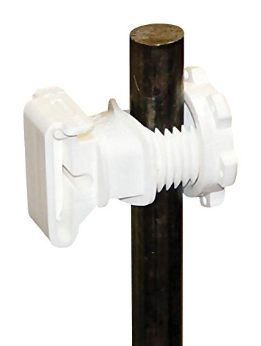 Dare Produkte 831916Western screw-tight rund Post Isolator, weiß, 25Stück