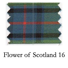 Schleifenband aus Polyester mit Tartan-Muster, 25 mm x 25 m, Flower of Scotland 16 -
