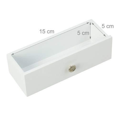 Relaxdays Schmuckschrank Spiegel zum Stellen – abschließbar – Spiegelschrank LED – weiß - 3