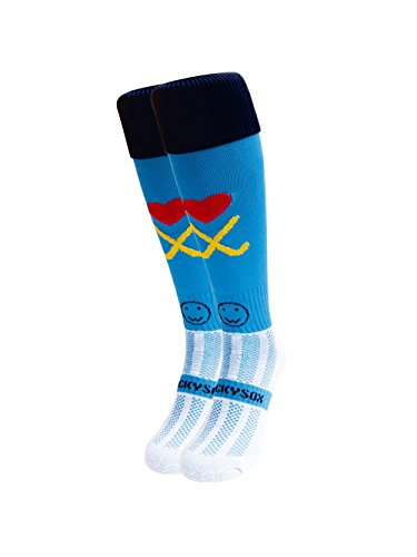 WackySox Hockey Addict Blue Sports Socks