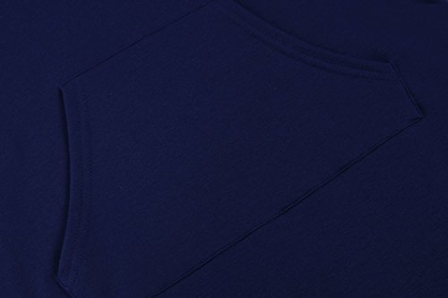 CRAVOG Damen Sommer Sport Ärmellos Bodycon Kleid Hoodie Kleid Minikleid Party Kleid Marineblau