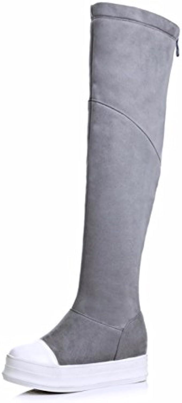 Suede botas altas botas de invierno código de color