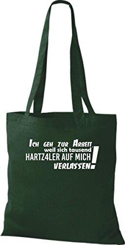 Shirtstown humoristique avec inscription en allemand'ich pochette 12,7 de travail parce que mille ... plusieurs couleurs Vert - Vert