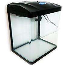 Acuario 29L Sunsun 38* 26* 40cm Completo luz LED Bomba Filtro Tapa