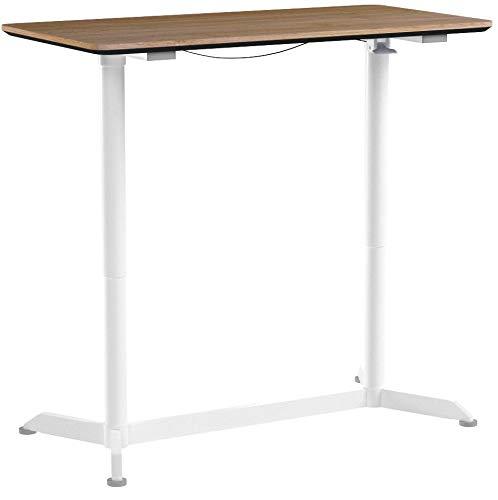 SONGMICS höhenverstellbarer Schreibtisch, Sitz-Stehtisch mit verstellbaren Füße,...