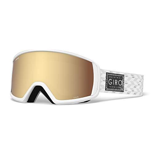 Giro Damen Gaze Skibrille, White Silver Shimmer, M