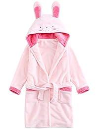 JLSYYCC Pijamas para niños, Batas de baño de animé para niños, Franela, niño