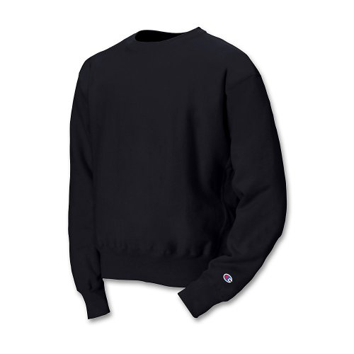 Champion Adult Reverse Weave Crew (Black) (M) Adult Full-zip Sweater