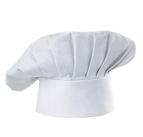LUFA Cappello da cucina cappello elastico registrabili cucina cottura alti cappello impostato per cucina cucina cucina ristoranti cappelli bianco cappello per adulti