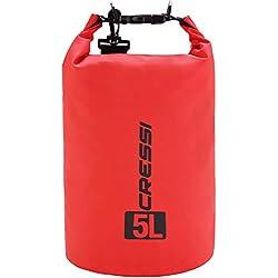 Cressi Dry Bag Mochila Impermeable para Actividades Deportivas, Unisex Adulto, Rojo, 5 L